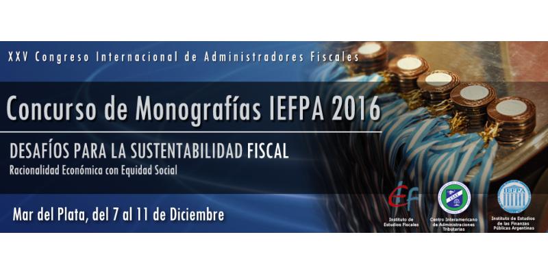 Concurso de Monografías IEFPA  2016