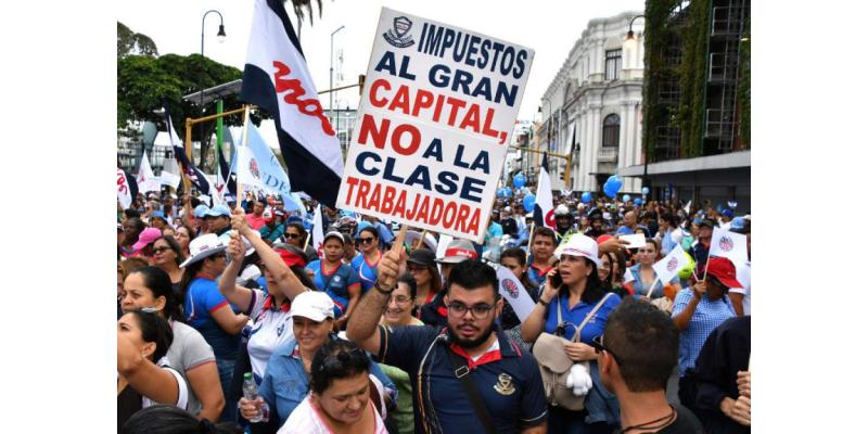 Huelga en Costa Rica por Reforma Fiscal